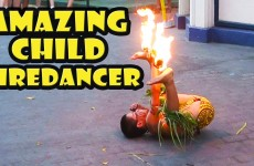 Amazing Child Fire Knife Dance