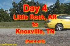 Chris' cross-country drive – Day 4 – Little Rock to Knoxville