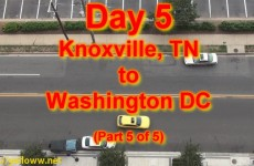 Chris' cross-country drive – Day 5 – Knoxville to Washington DC