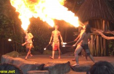 Fire Dance at the Singapore Zoo Night Safari