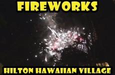 Friday Fireworks at the Hilton Hawaiian Village Waikiki