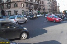 Naples Italy Traffic – Left turn yield (or not!) intersection