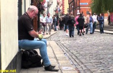 Playing Spoons in Dublin Ireland — Awesome Street Performer