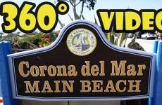 360 Video – Newport Beach – Corona Del Mar Main Beach